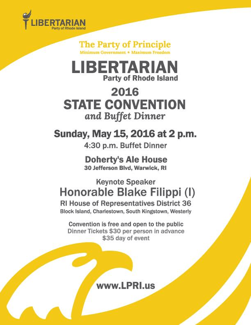 This Sunday: LPRI State Convention